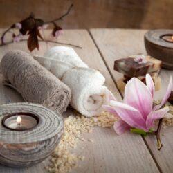 Wellness natürlichen Seifen Kerzen Handtuch